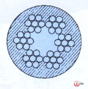 Stalowa lina w otulinie PCV